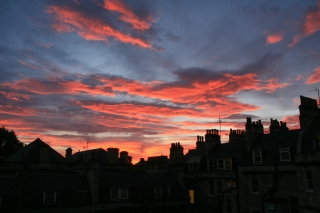 Sunset over Roofscape.
