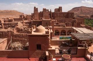 Old and new Kasbah's, Tamdakht, Morocco, '17.