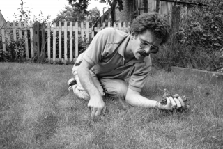 Mike, Weeding the Lawn.