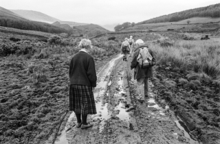 Mum [that mud again] and Dad in Cumbria.