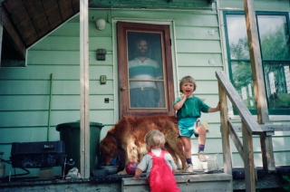 Ed, Rhys and Toddy, Fredericton, Canada, '90.