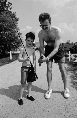 Rob and Mike, fishing.
