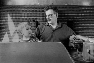 Jack and Mike on the train.