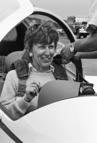 Wendy on her glider flight. 2.