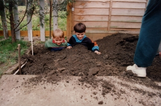 Burying the boys!