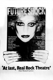 Future Shock Poster, with NME quote for Roundhouse production, 1978.