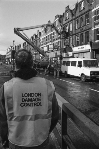 Aftermath of 3 IRA bombs, Finchley Road.