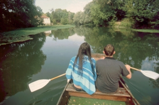 Rob and Jack on the Charente, France, '09.