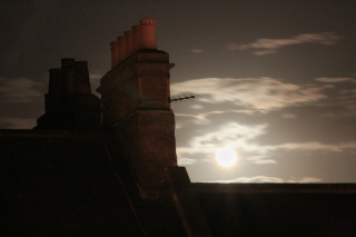 Chimney Stacks/Moonrise, Bath.