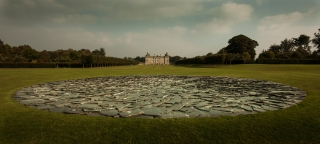 Richard Long's Full Moon Circle, Houghton...