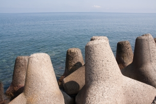 Sea Defences, Salina, Aeolian Islands.