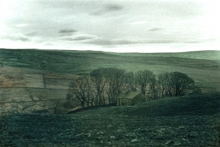 Pennine Landscape, [B&W]Painted, Co.Durham.