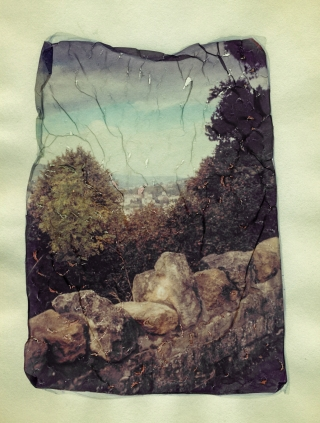 Polaroid Lift, Beechen Cliff, Bath.