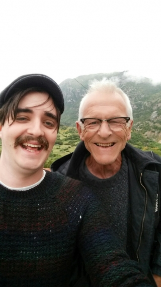 Rob and me, First Selfie, Greece, '16.