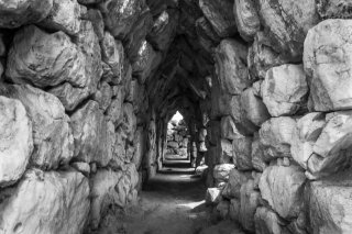 Tiryns, Re-Constructed Vaulted Passage, '16.