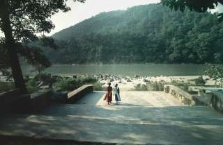 Steps down to The Ganges, '01.