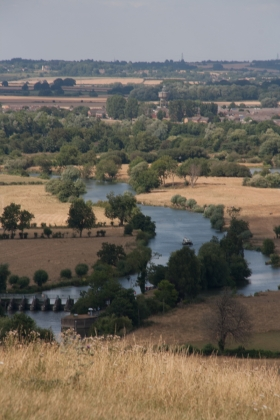 Wittenham Clumps, view of Thames, 2018.