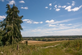 View from Chisbury Chapel, Wilts, '20.
