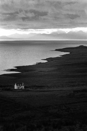Outer Hebrides from Skye, Scotland.